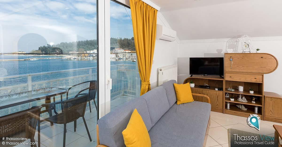 Nikos Sea View Apartment, Θάσος
